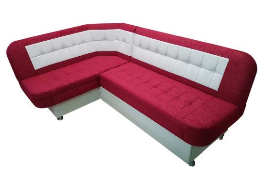 кухонный уголок со спальным местом лаура красный