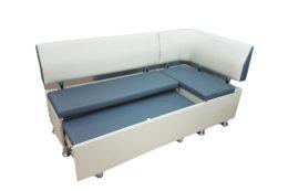 Кухонный уголок со спальным местомВероника 1 в ткани экокожа