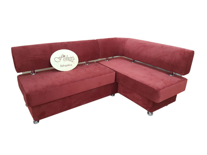 Кухонный уголок со спальным местомВероника 1 в ткани velvet