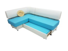 Кухонный уголок со спальным местомВероника 1 в ткани экокожа санторини