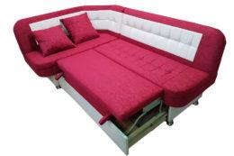 Кухонный уголок со спальным местом Лаура в ткани антикоготь luna