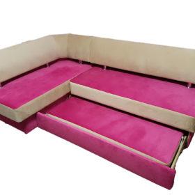 Кухонный уголок со спальным местомВероника 1 в ткани антикоготь(charle)