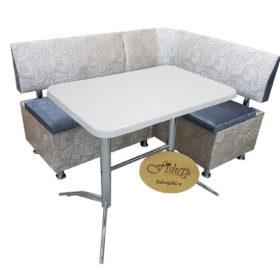 Кухонный уголок со столом «Вероника-2» в ткани lord