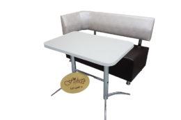 Кухонный уголок со столом «Вероника-2» в экокоже iguana