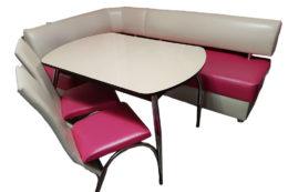Кухонный уголок со столом «Вероника 1» экокожа