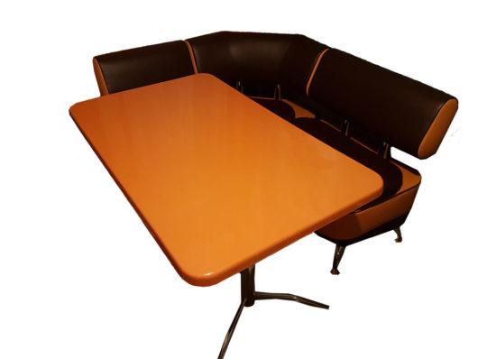 Кухонный уголок со столом «Альгида» экокожа