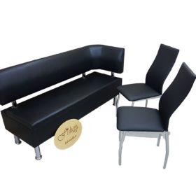 Кухонный диван «Вероника 2» в экокоже санторини