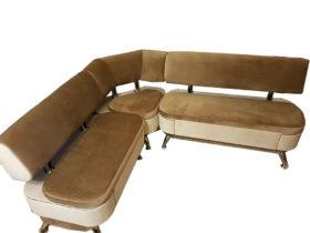Кухонный уголок с ящиком «Альгида» в ткани антикоготь