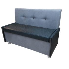 Кухонный диван «Вероника-3» в ткани mercury и экокоже kongo