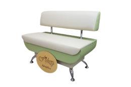 Кухонный диван «Лира» в экокоже санторини