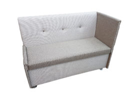 Кухонный диван «Вероника-3» с одним высоким подлокотником в рогожке